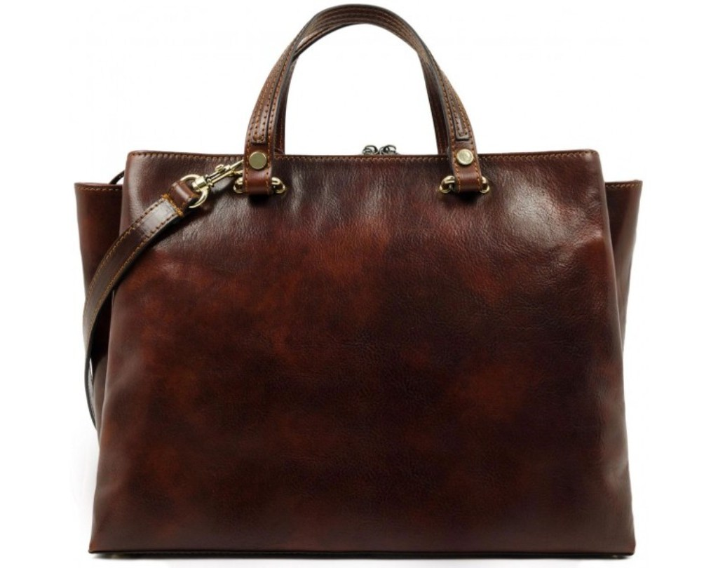 BROWN LEATHER TOTE BAG SHOULDER BAG FOR WOMEN – THE SCARLET LETTER
