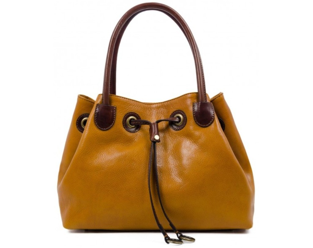 YELLOW LEATHER TOTE BAG FOR WOMEN – LOLITA