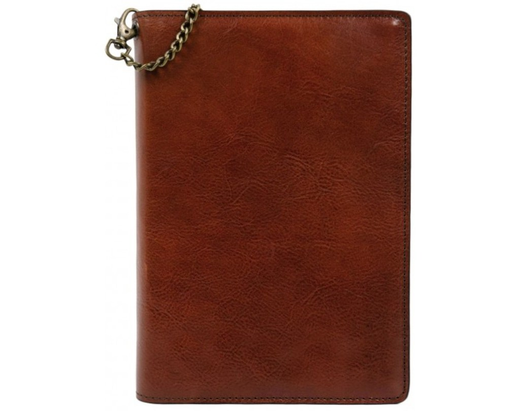 BROWN FULL GRAIN LEATHER JOURNAL WITH REFILLABLE A5 NOTEPAD - THE DIARY OF A NOBODY