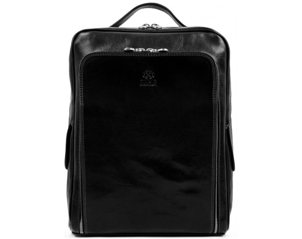 MEN'S BLACK LEATHER BACKPACK - THE SUN ALSO RISES