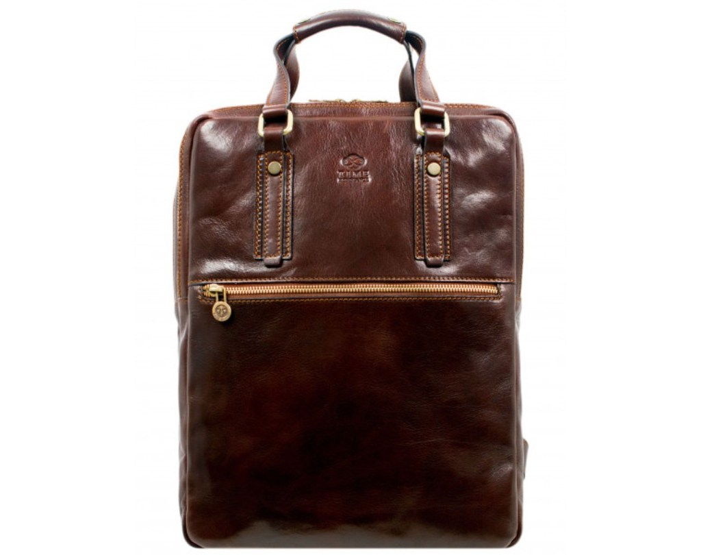 DARK BROWN LEATHER BACKPACK – GONE WITH THE WIND
