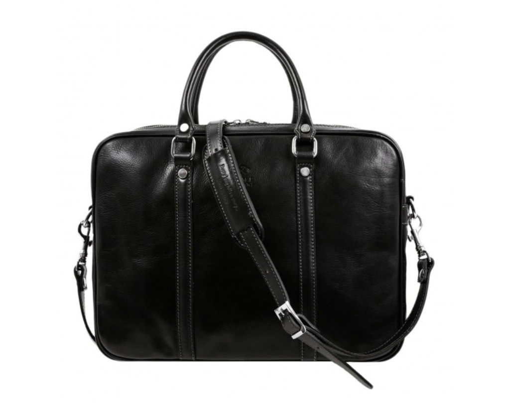 BLACK LEATHER LAPTOP BAG - THE HOBBIT