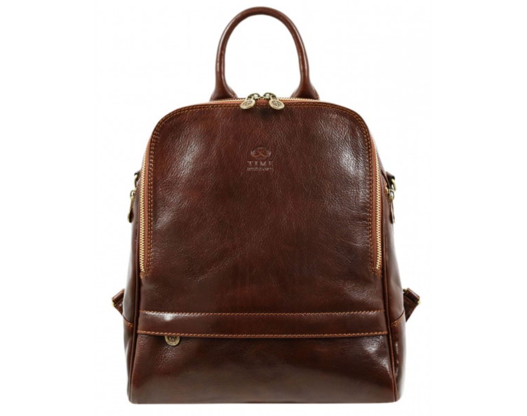 WOMEN'S DARK BROWN LEATHER BACKPACK CONVERTIBLE BAG - MIDDLEMARCH