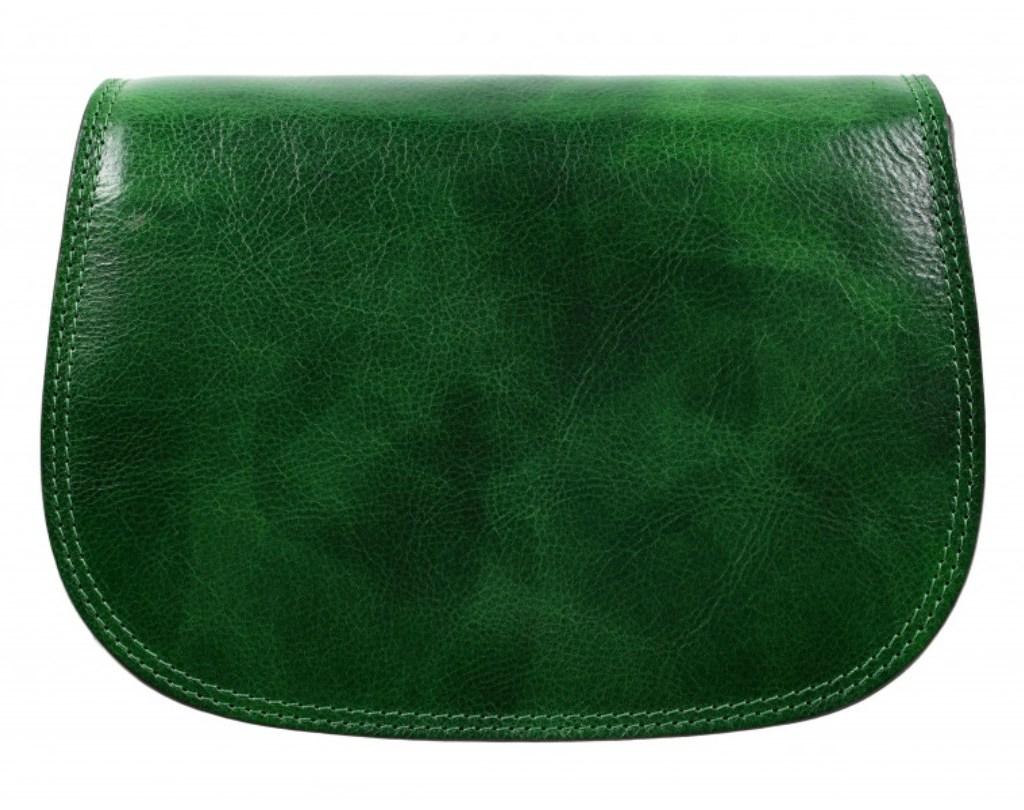 GREEN LEATHER CROSS BODY MESSENGER BAG BAG – MOONFLEET