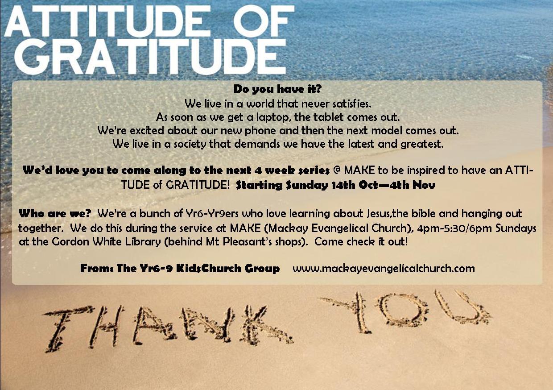 Attitude Of Gratitude Year 6 9 Kids Make Make