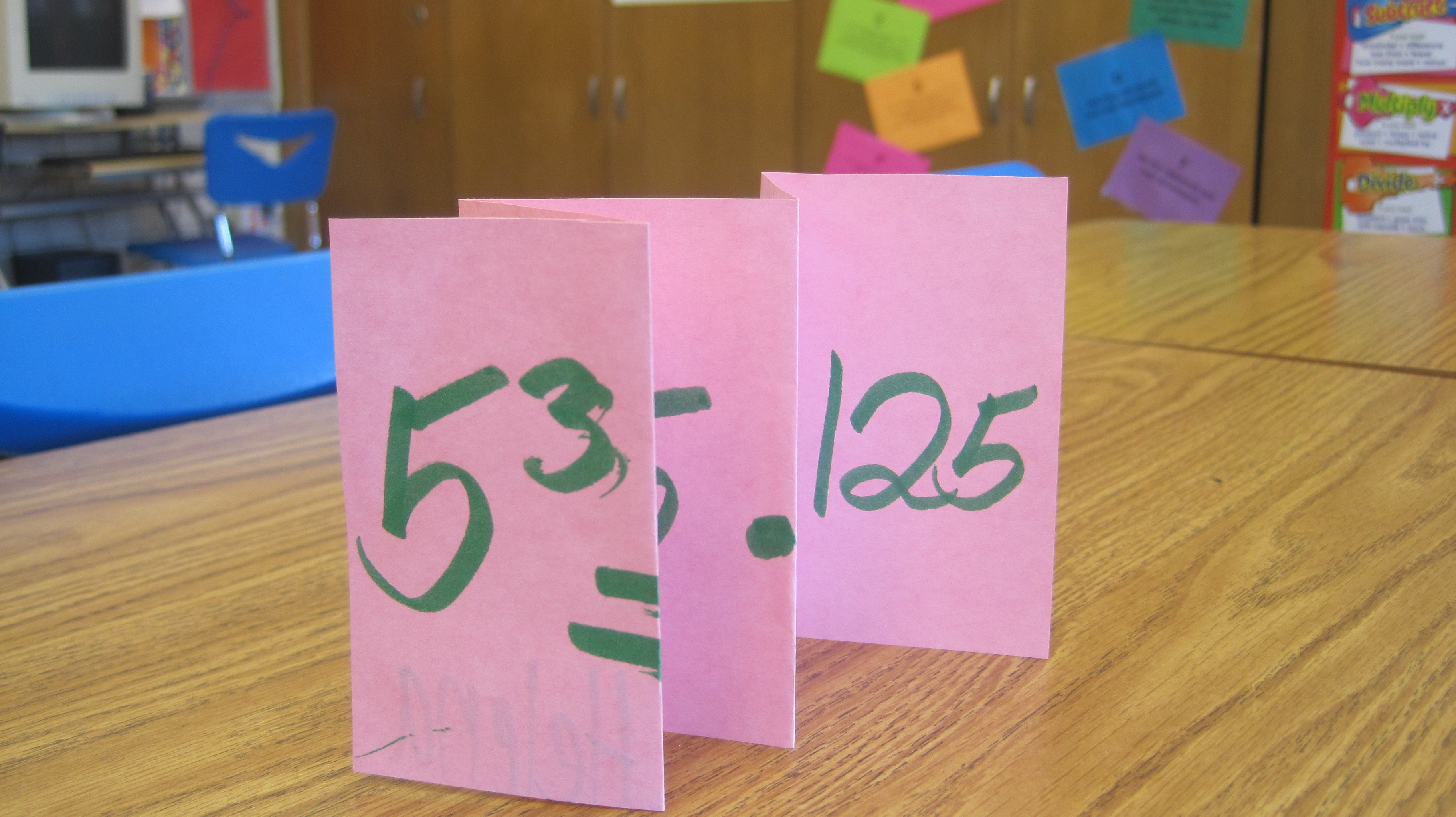 Exponent Foldables
