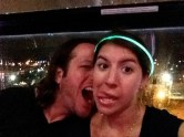 We took some really cute pictures in the ferris wheel...