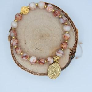 Armband aus Natursteinen