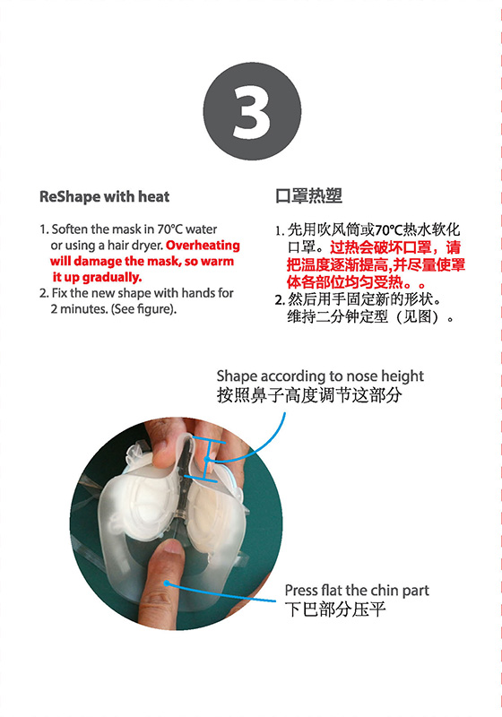ReShape (heat moulding) Totobobo mask to fit individual face shape