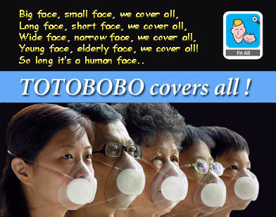 TOTOBOBO mask fit children and adults