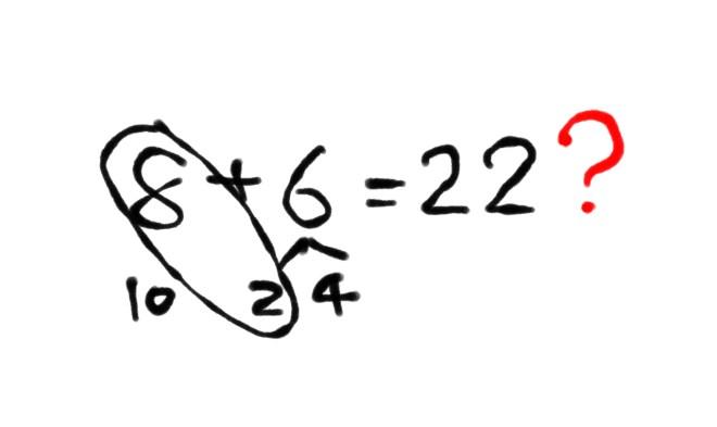 図:8+6=22?