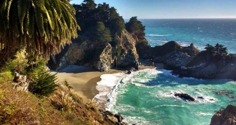 McWay Falls in Julia Pfeiffer Burns State Park of Big Sur, California on the US Coastal Highway, of Ellen Blazer's travel blog To Travel and Bloom