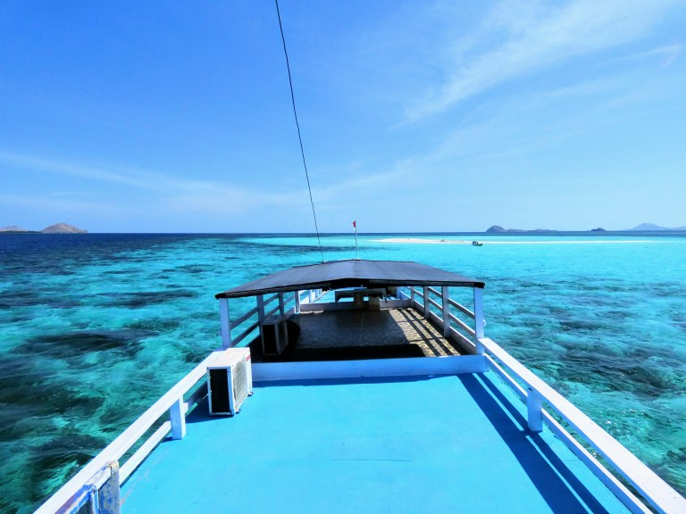 The live-abroad boat I stayed on in Komodo National Park of Labuan Bajo, Indonesia (a converted fisherman's boat)