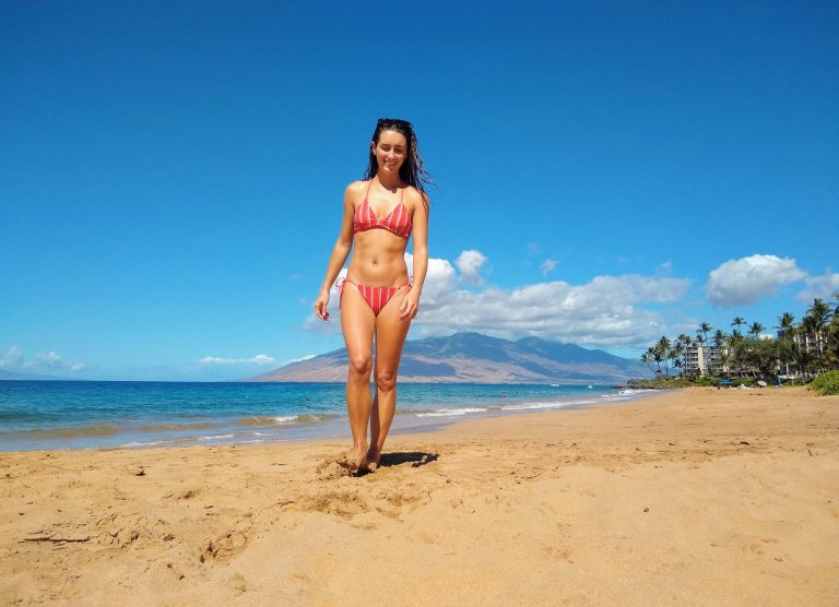 Maui Beach with Volcano scaled - Traveling to Maui during COVID may not be what you expect!
