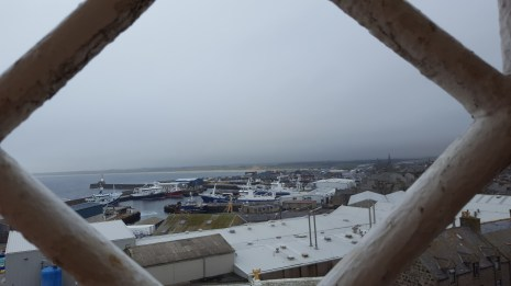 View of Fraserburgh harbour