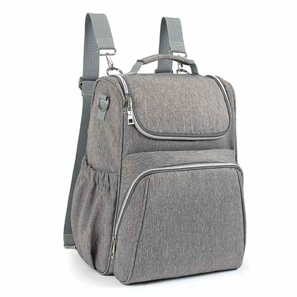 Meet your new favourite backpack baby changing bag in stylish grey - versatile, lightweight and surprisingly roomy for its compact size.