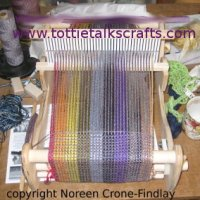 Weaving a healing or prayer shawl on the Cricket loom