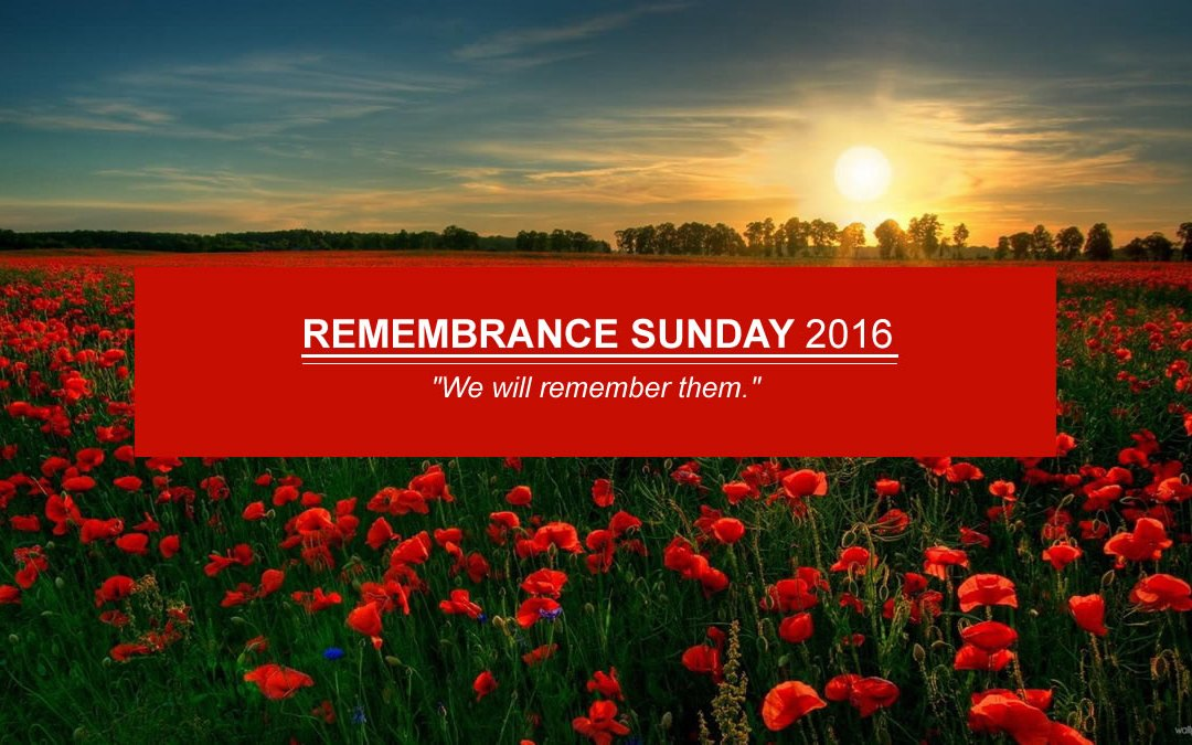 Remembrance Sunday 13th November 2016