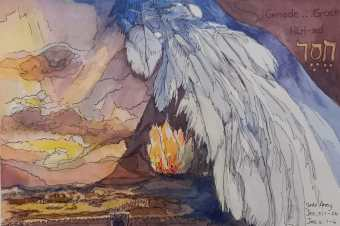 Jesaja dag 4, gedig en skets