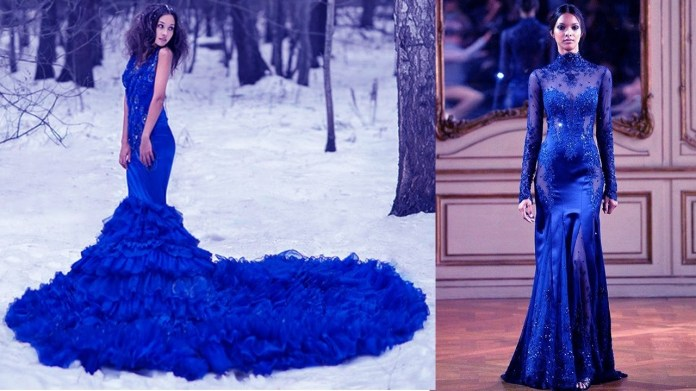Most Beautiful Blue Dresses for Women/Girls - Blue Dresses for Wedding/Prom - YouTube