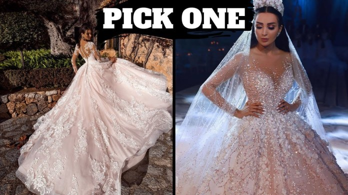 The most Beautiful Dresses in the world 2020 - Wedding Dresses for Brides -  YouTube