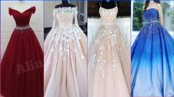 ball gown frock designing ideas//prom dress designing ideas - YouTube