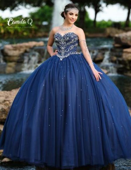 Camila Q Quinceanera Dress 19008 Shimmer Princess Ballgown Strapless prom dress – Glass Slipper Formals