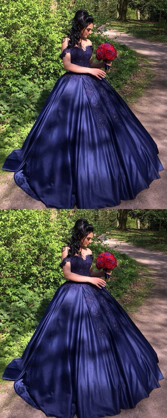 Navy blue quinceanera dresses,ball gowns | Cherry