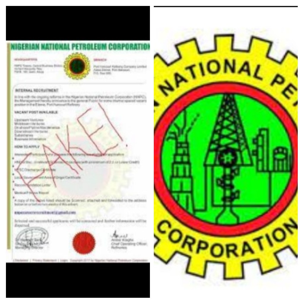 WE ARE NOT RECRUITING, DON'T FALL VICTIM- NNPC SAYS