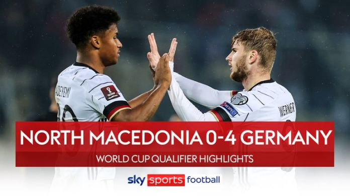Germany thrash North Macedonia to seal place at Qatar 2022 - World Cup  Qualifiers round-up | Football News | Sky Sports