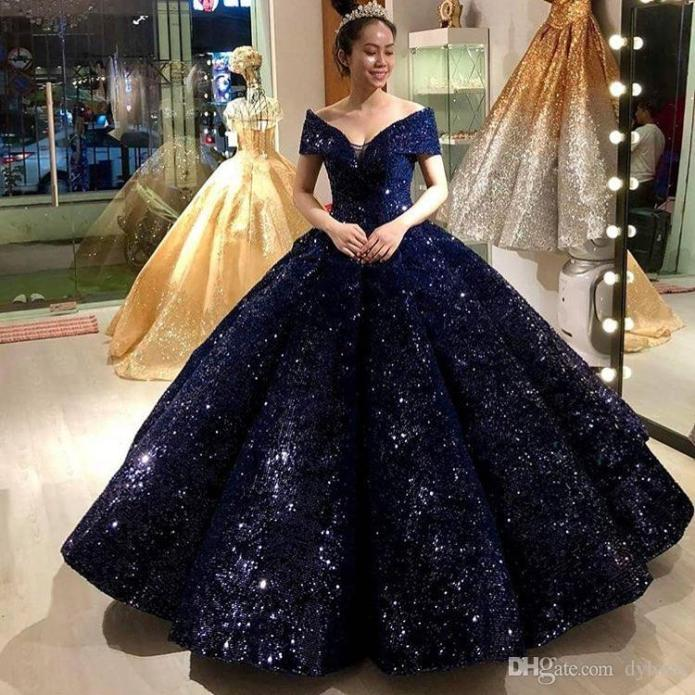 blue and black ball gown Online Shopping -