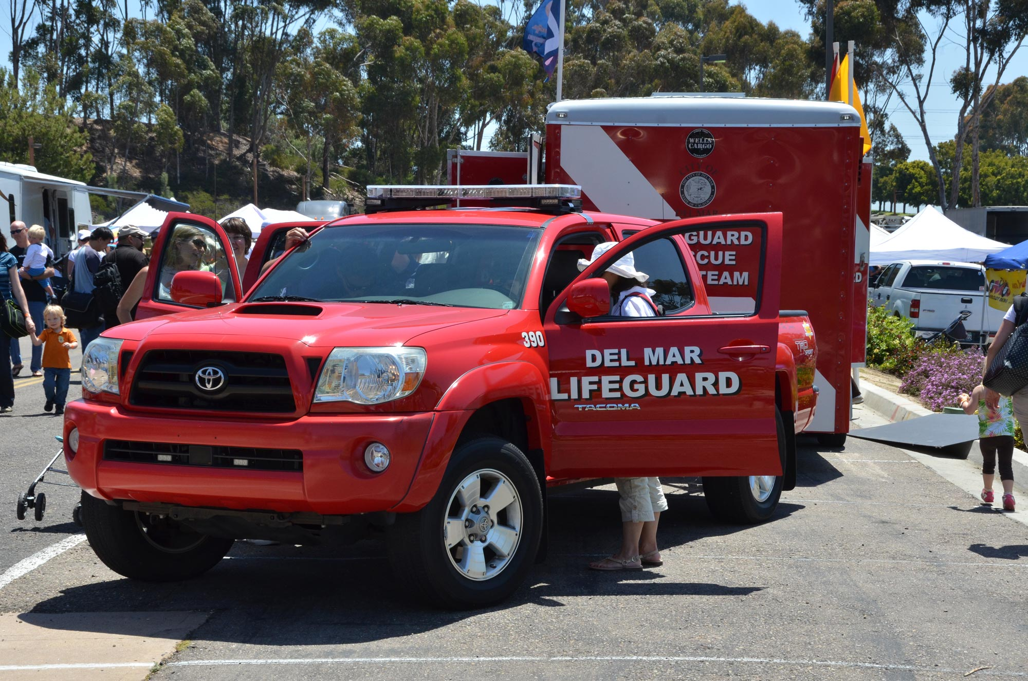 Lifeguard truck, trailer, & rescue boat