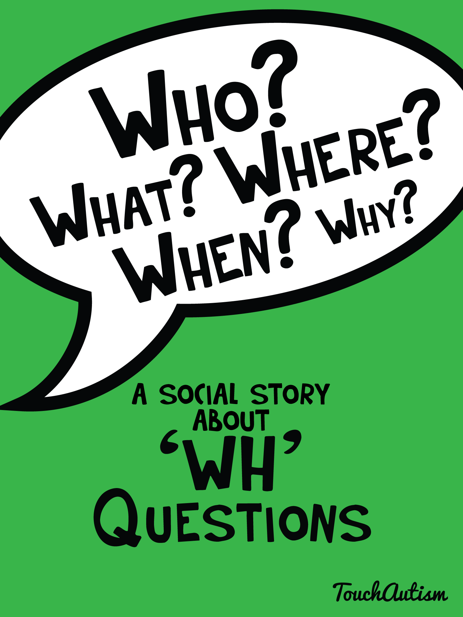 Visual Supports Amp Social Story To Teach Wh Questionstouch
