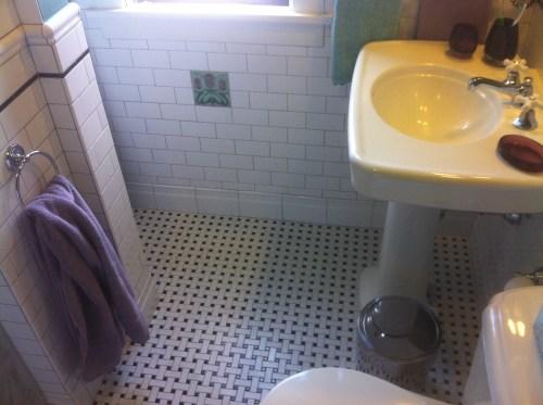 Classic ceramic tile bathroom install in St Paul, MN