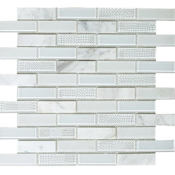Synergy glass and greecian marble mosaic DC0039