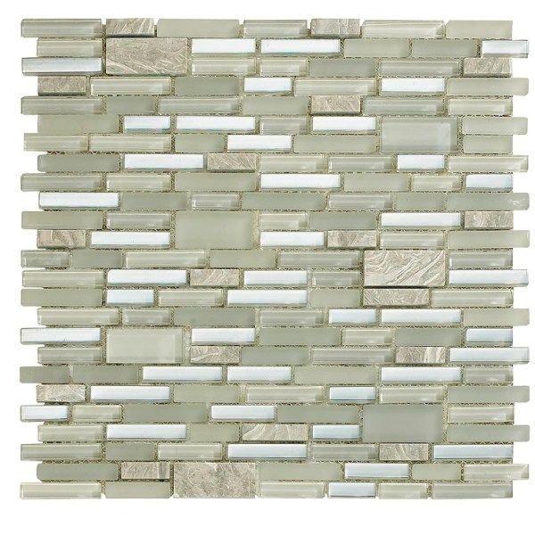 Synergy glass and stone mosaic tile mix N07033