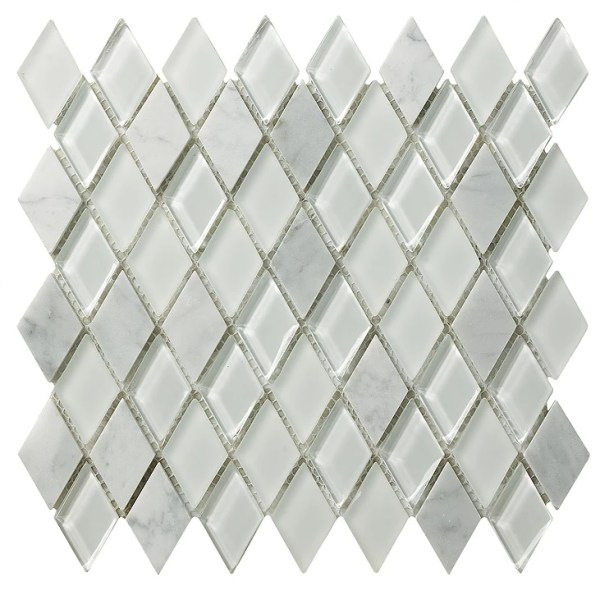 Synergy glass diamond and greecian marble mix DC0012