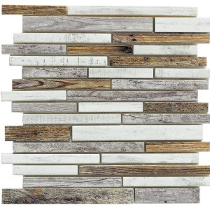 Synergy glass wood look mosaic DC0027-B