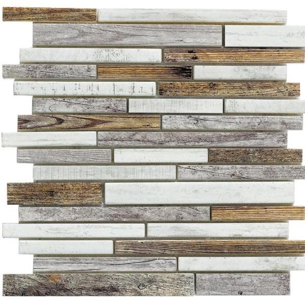 Synergy glass wood look mosaic DC0027-B