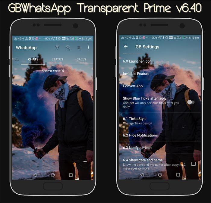 GB WhatsApp Transparente Prime
