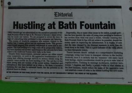 Hustling at Bath Fountain Jamaika