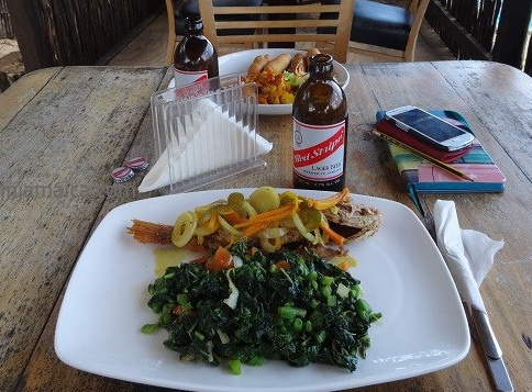 Red Snapper Escovitch and Calalloo