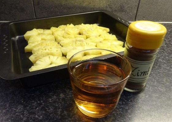 Zutaten Gebackene Ananas