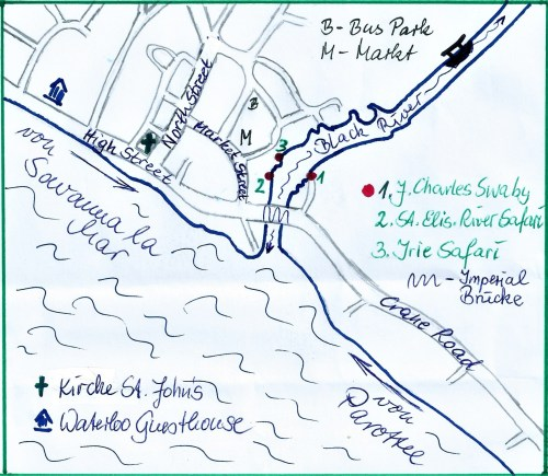 Black River Jamaika Karte