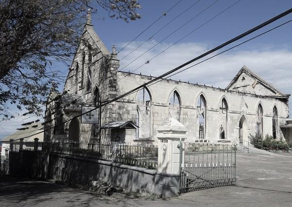 Ruine der St. Ann's Bay Methodist Church, in die die Familie Marcus Garveys zu Gottesdiensten ging.