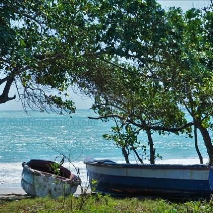 Ein kleines Teilstück des Fort-Charles.Beach auf Jamaika haben wir Robinsons Beach getauft, weil wir uns dort fühlen wie Robinson Crusoe.