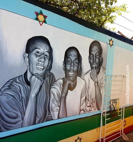 "Bob Marley, Bunny Wailer, Peter Tosh aka ""The Wailers"""