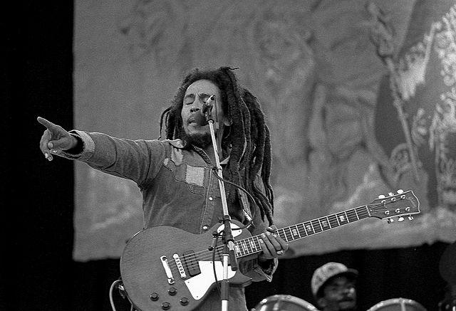 Bob-Marley-performing at Dalymount Park, on 6 July 1980.