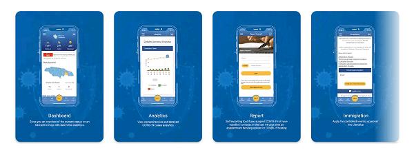 Die JamCovid19 App liefert aktuelle Informationen und Unterstützung betreffend Corona in Jamaika.