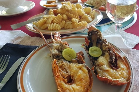 Lobster im Lobster Bowl Restaurant in Rio Bueno/Jamaika